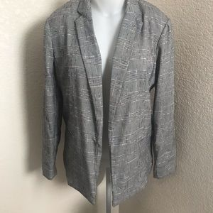 Lauren Conrad black/pink plaid blazer sz XL